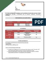 Fresher Chartered Accountant Resume Sample Doc