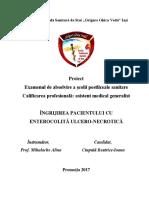 Proiect Enterocolita Ulcero Necrotica