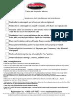 Towing checklist