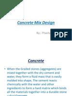 Mix designs