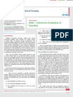 WAD – Criteria for Evaluation of Causality