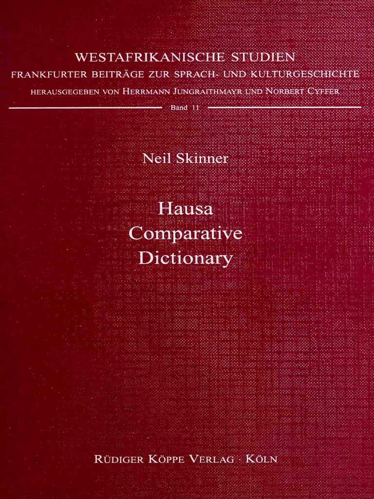 Phonology dictionary Hausa 1996 comparative Skinner pdfVowel v8w0mNynO