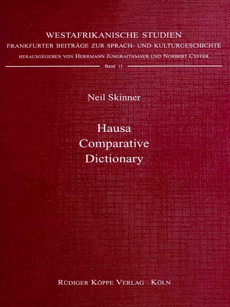 Skinner-Hausa_comparative_dictionary_1996 pdf | Vowel