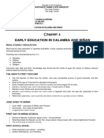 Handout -Chapter 3 Early Education in Calamba and Biñan