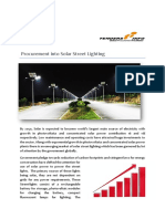 Procurement into solar street lighting, Government Tenders | TendersInfo.