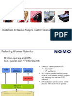 Guidelines for Nemo Analyze Custom Queries October 2012