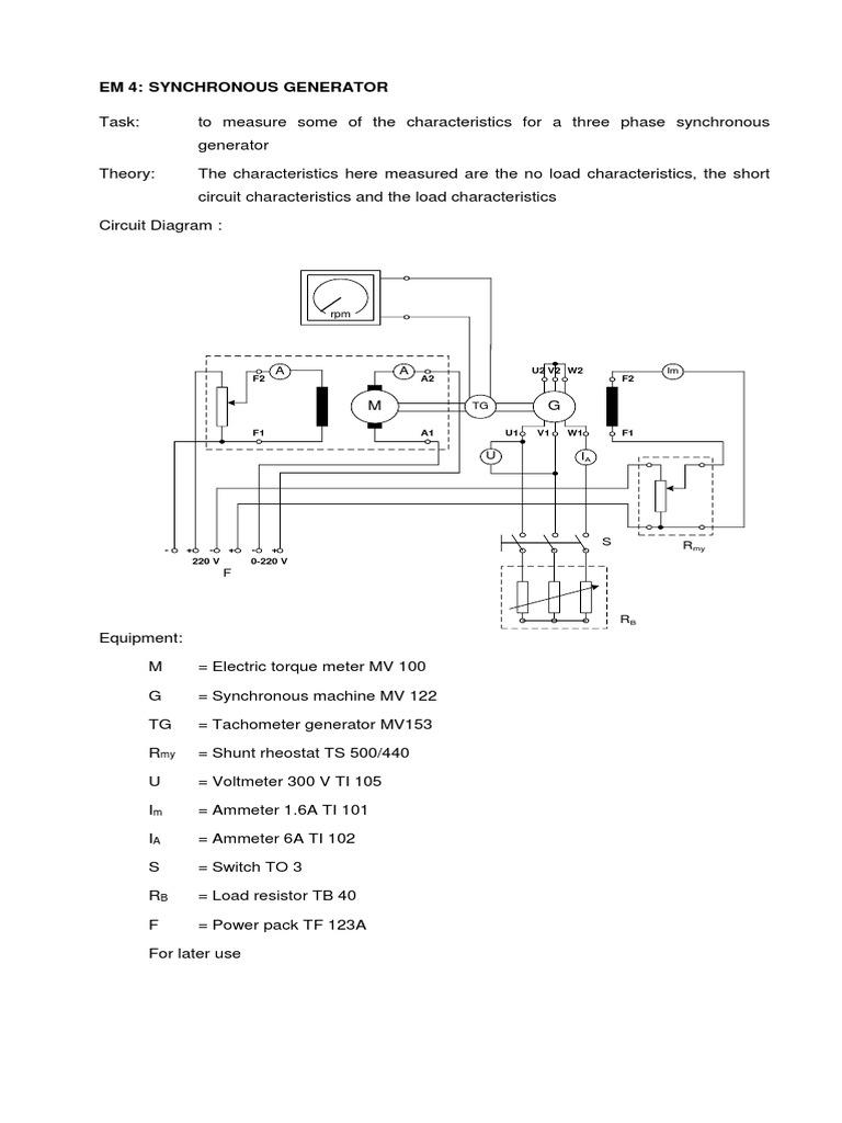Jobsheet 2 Mesin Sinkron 2017 Voltage Physical Quantities Synchronous Generator Diagram On Electrical Circuit