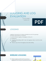 Logging and Log Evaluation