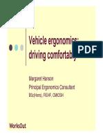 Vehicle Ergonomics HANDOUT