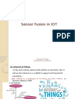 Sensor Fusion in IOT