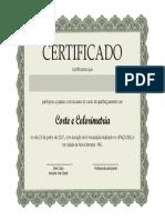 Certificado Corte e Colorimetria - Deni Costa