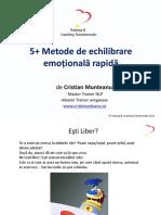 5 Metode Echilibrare Emotionala