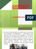 Formalización de La Empresa (Informalidad)