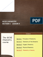 IGCSE Chemistry Section 5 Lesson 4