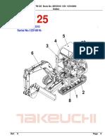 Parts Manual Tb125 Be5z010