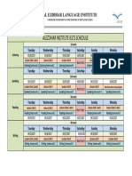 Ielts Schedule