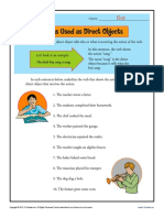Nouns Direct Objects