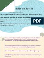 Advice on Advice[p]
