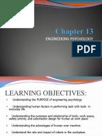 Chapter 13 - Engineering Psychology Stu