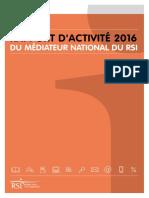Rapport 2016 Médiateur RSI