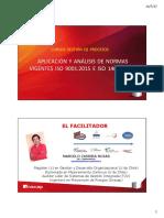 APLICACIÓN Y ANÁLISIS DE NORMAS VIGENTES ISO 9001-2015 E ISO 14001-2015