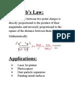 Law of Electrostatics