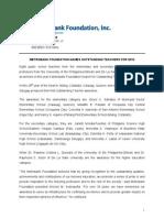 2010 Metrobank Foundation Outstanding Teachers