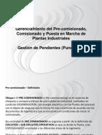 Gestión de Pendientes-Punch list- Pre comisionamiento.pptx