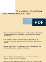 Chapter 1 Ic 14 Development of Insurance Legislation in India and Insurance Act 1938