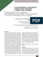 Caracterización microbiológica y fisicoquímica de aguas subterráneas de los municipios de La Paz y San Diego, Cesar, Colombia
