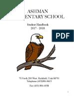 ashman student handbook 17-18