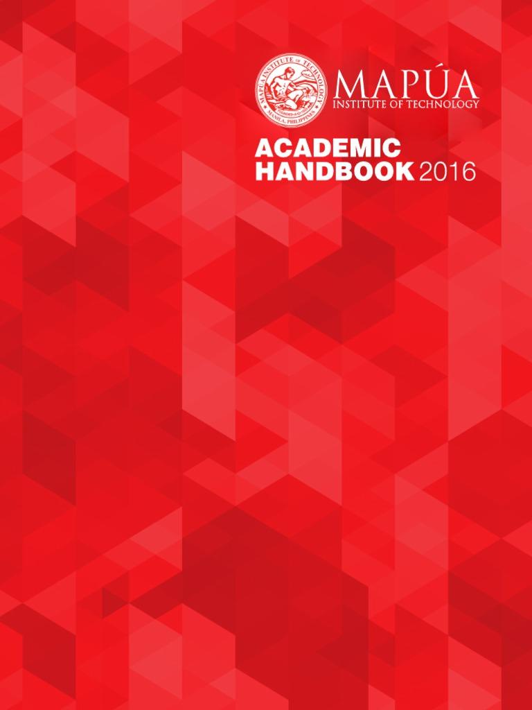 MAPUA UNIVERSITY Academic Handbook | Academia | Science And
