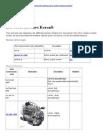 Les Codes Moteurs Renault
