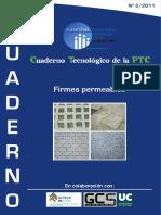 Cuaderno PTC 2 2011 Firmes Permeables
