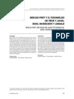 MERLEAU-PONTY Y EL PSICOANÁLISIS