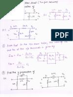 Problem Sheet Two Port Networks