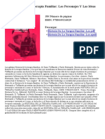 Historia de La Terapia Familiar Los Personajes Y Las Ideas