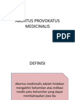 Abortus Provokatus Medicinalis