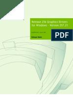 257.21 Win7 WinVista Desktop Release Notes