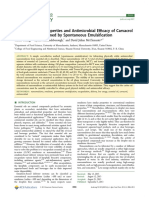 Physicochemical Properties and Antimicrobial Efficacy of Carvacrol Nanoemulsions