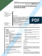 NBR 09441-Execução de Sistemas de Detectação e Alarme de Incêndio