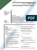 NBR 10152 - 1987 - NÍVEIS DE RUÍDO PARA CONFORTO ACÚSTICO.pdf