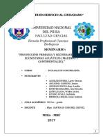 Ecosistema Acuatico Prod.primaria y Secundaria