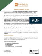 Idiopathathic Anaphylaxis Factsheet v9 February 2014