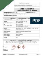 ACIDO CLORHIDRICO Análisis de Trazas_HsVen001 Hoja de Datos de Seguridad