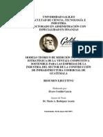 Resumen Ejecutivo Modelo de Medición y Evlauacion de Los Factores Internos de La Ventaja Empresarial Competitiva Sostenible