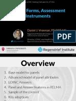2017 03 09 - LOINC - Panels Forms Assessments