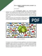 Acciones Frente Al Cambio Climatico en El Hogar y La Comunidad