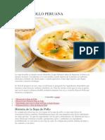 Sopa de Pollo Peruana