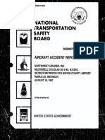 NTSB Aircraft Accident Report, Northwest Flight 255